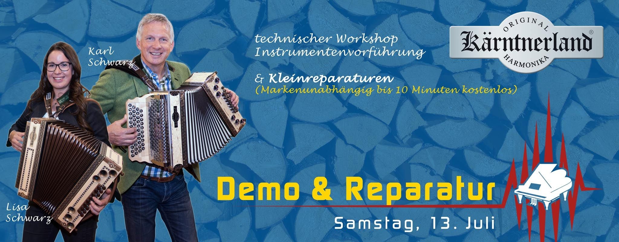 Kaerntnerland Hamrmonika Demo und Repair Day an der Blueweek